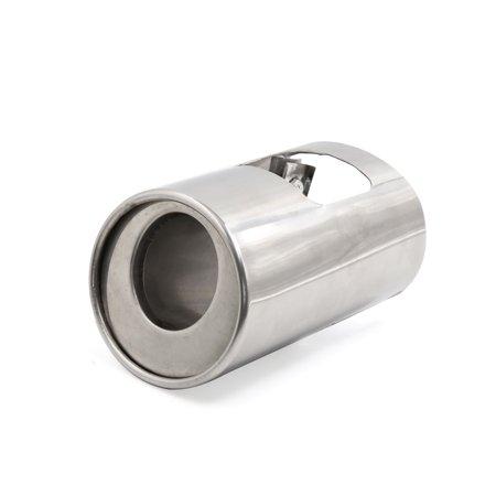Honda Crx Cat - Silver Tone Stainless Steel Screw Inlet Car Exhaust Muffler Tip for Honda CRV