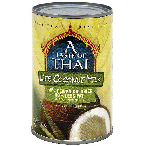 A Taste Of Thai Lite Coconut Milk, 13.5 oz (Pack of 12)