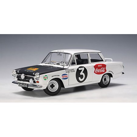 Ford Cortina MK1 Rally 1964 #3 Huges/Young Rally Safari 1/18 Diecast Model Car by Autoart