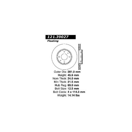 Go-Parts OE Replacement for 1999-2004 Volvo V40 Front Disc