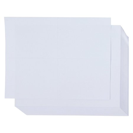 Blank Postcards - 100-Sheet Kraft Paper Postcards, Printable Blank Note Cards for Inkjet and Laser Printers, 4 Per Page 400 Cards in Total, Plain White, Perforated, 4 x 6