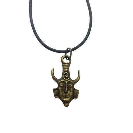 Dean's Supernatural Necklace Amulet Dean Winchester Jensen Ackles TV (Lazuli Amulet Pendant)