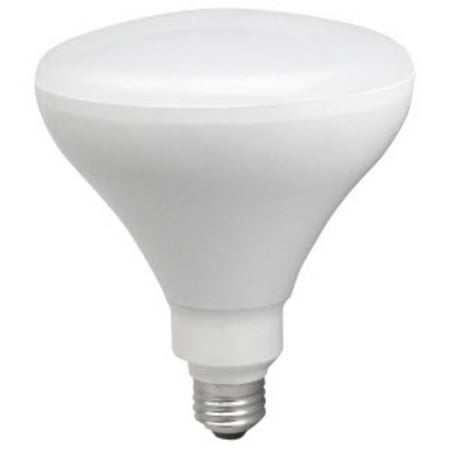 TCP LED17BR40D50K Single 17 Watt Frosted Dimmable BR40 Medium (E26) LED Bulb - (Br40 Medium Base Frost Reflector)