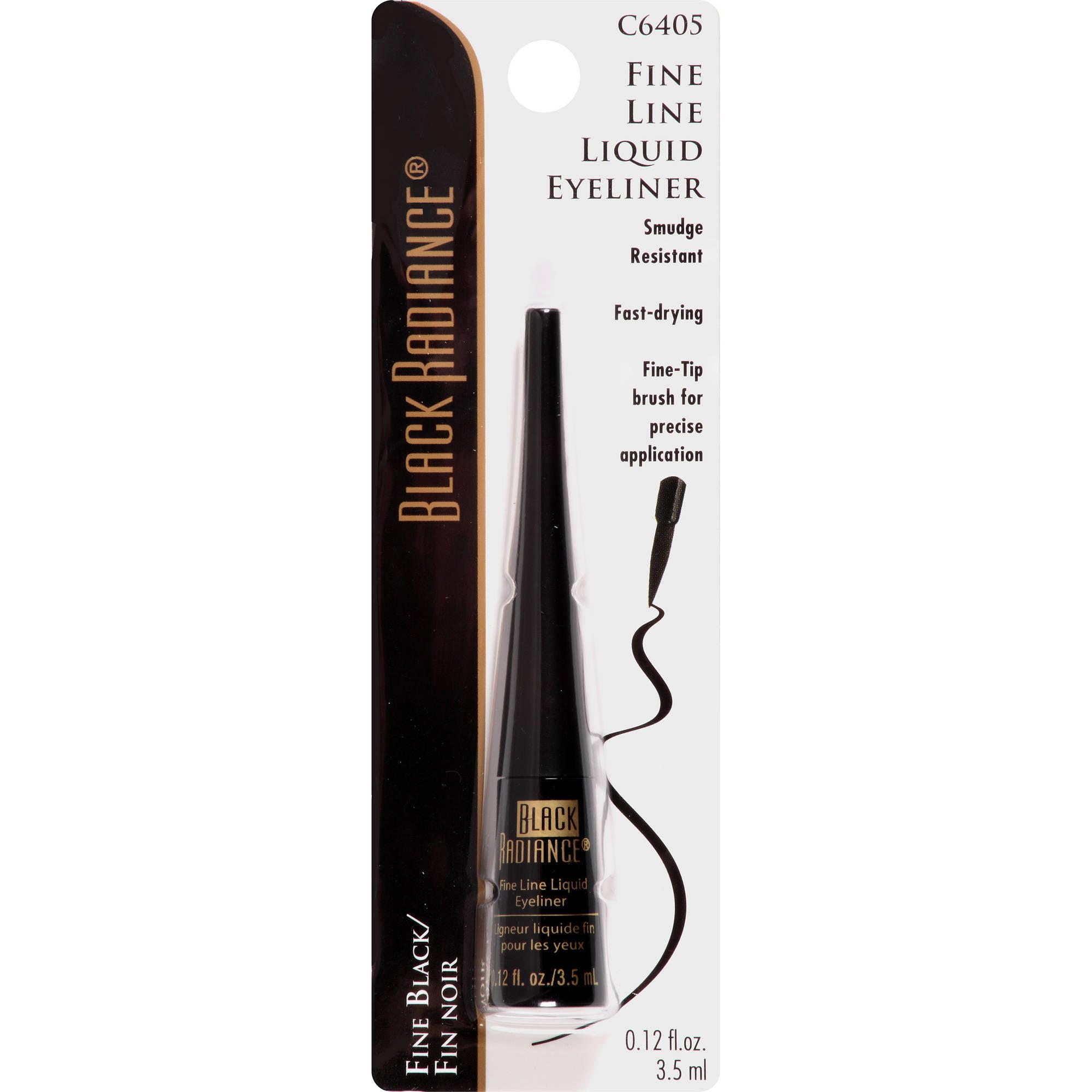 Black Radiance Fine Line Liquid Eyeliner, CA6405 Fine Black, 0.12 fl oz