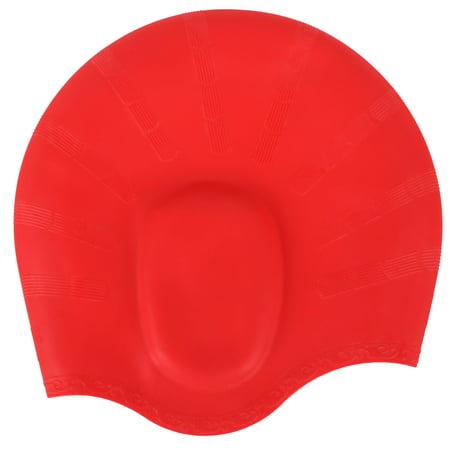 Silicone Unisex Men Women Adult Swimming Pool Swim Cap Hat Protect Waterproof - Hot Adult
