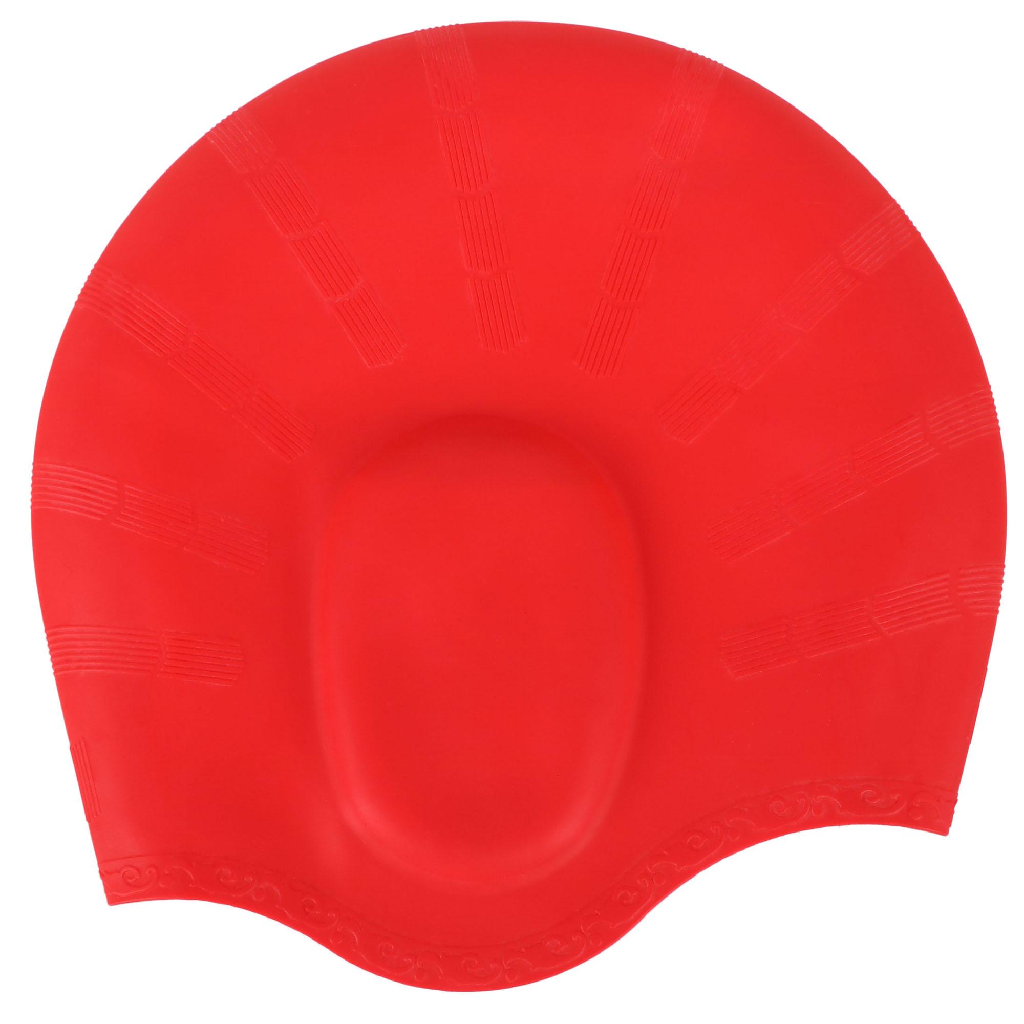 Men / Women's Athletic Swimwear Silicone Waterproof Swim Cap, Red