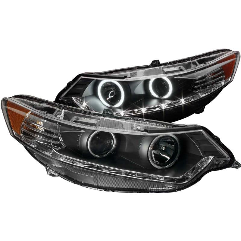 ANZO 2009-2012 Acura Tsx Projector Headlights W/ Halo