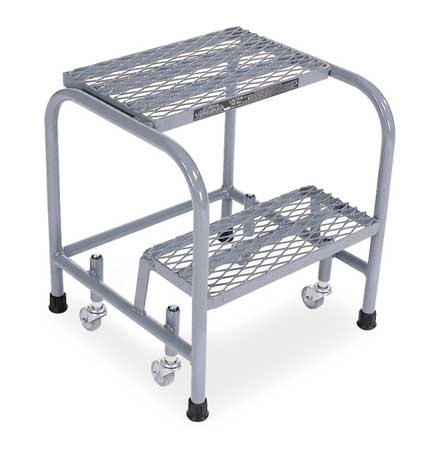 Cotterman Expanded Metal Rolling Ladder, Gray 1002N1818A1E10B3C1P1