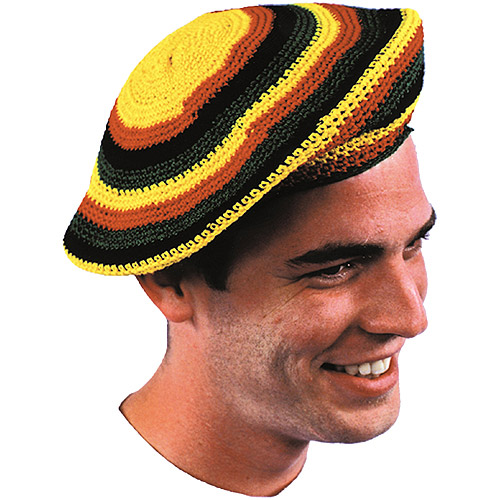 Assorted Design Jamaican Tams Adult Halloween Accessory