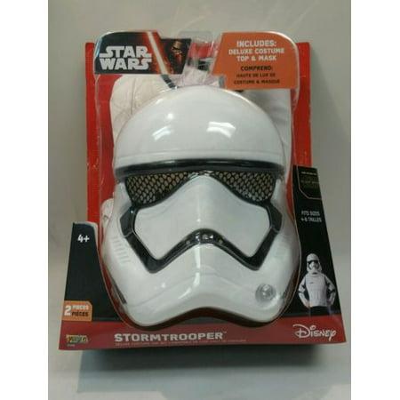 Star Wars StormTrooper Deluxe Costume Top & Mask by Star Wars Storm Trooper Deluxe Costume Set for $<!---->