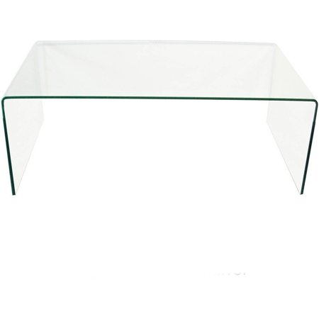 Bent Glass Coffee Table - Clear Bent Glass Coffee Table, 3/8