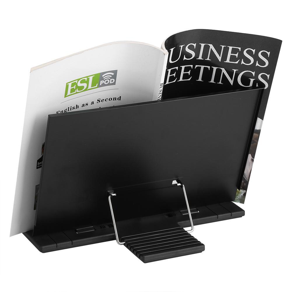 Knifun Book Stand Bookstand Adjustable Tilt, Reading Desk Holder,Portable Steel Book Stand Bookstand Adjustable Tilt Reading Desk Holder Black