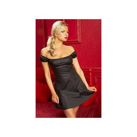 "Image of Allure Leather Rubber Look Vinyl ""Lolita"" Dress 17-8601 Black"