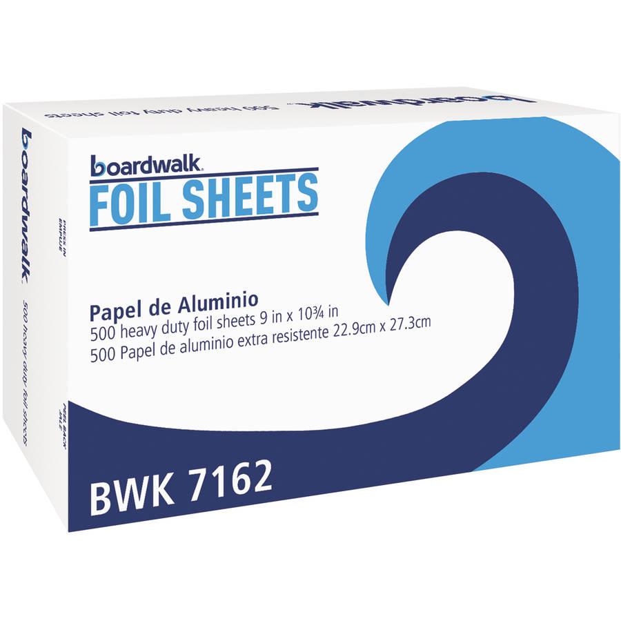 Boardwalk Foil Sheets, 500 count, pack of 6