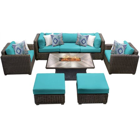 Venice 8 Piece Outdoor Wicker Patio Furniture Set 08h Image 1 Of 2