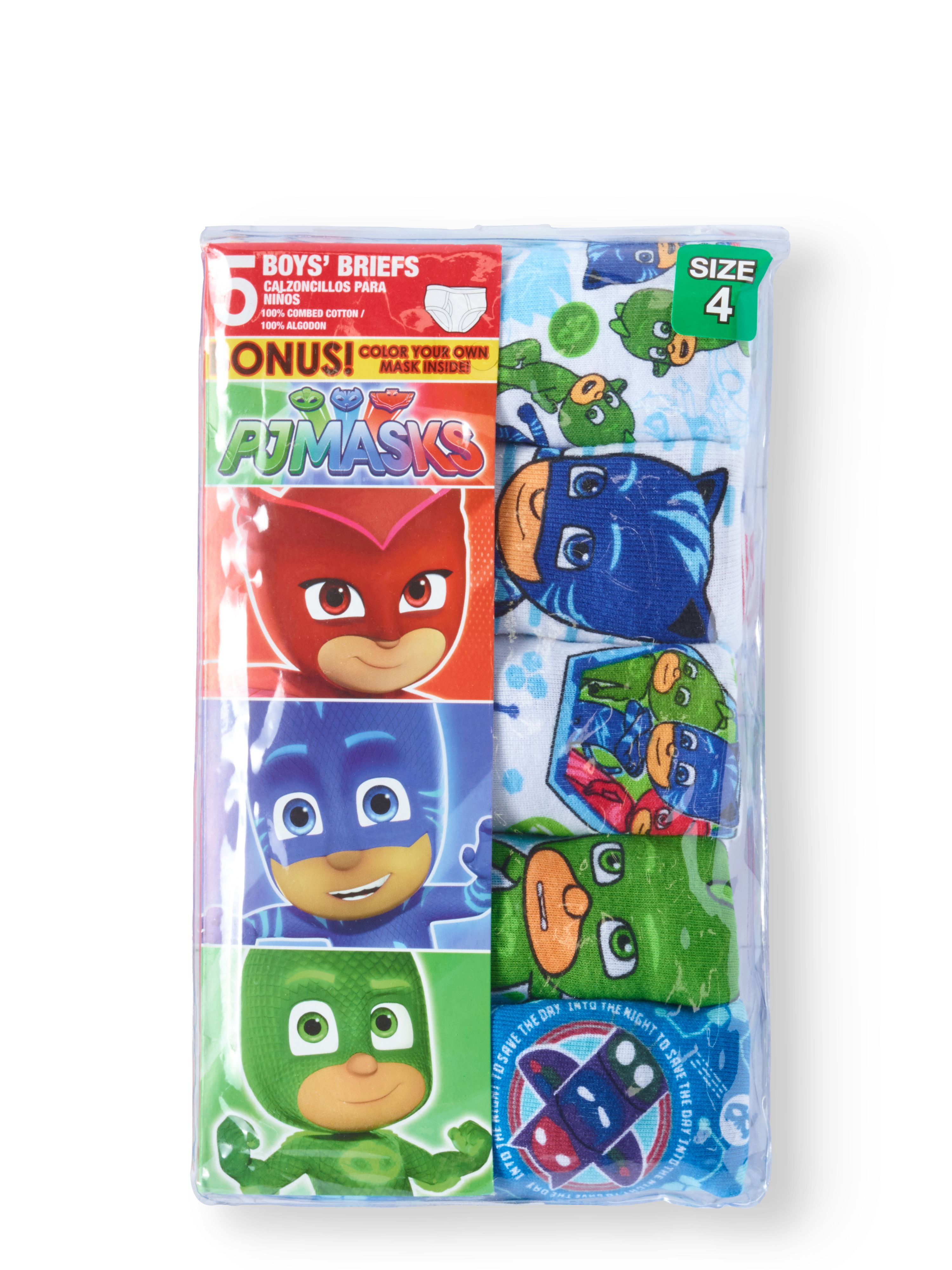 PJ Masks Boys 5-Pack Brief Underwear