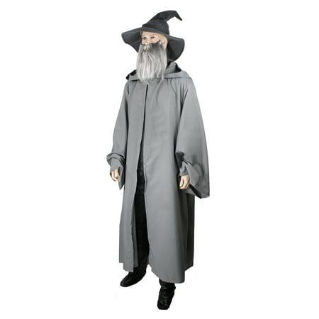 Wizard Robe Men's Gray Small - Gandalf Cloak Pattern