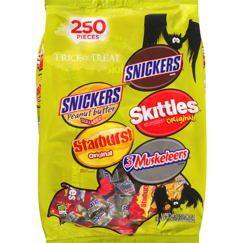 Mars Halloween Trick-or-Treat Candy Variety Pack, 250 count, 103.06 oz
