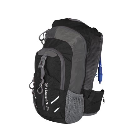 Hydration Daypacks - Stansport Daypack with Hydration Bladder - 20 Liter - Black