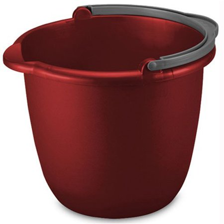 - STERILITE 11205812 10QT RED Spout Pail, 10 Quart