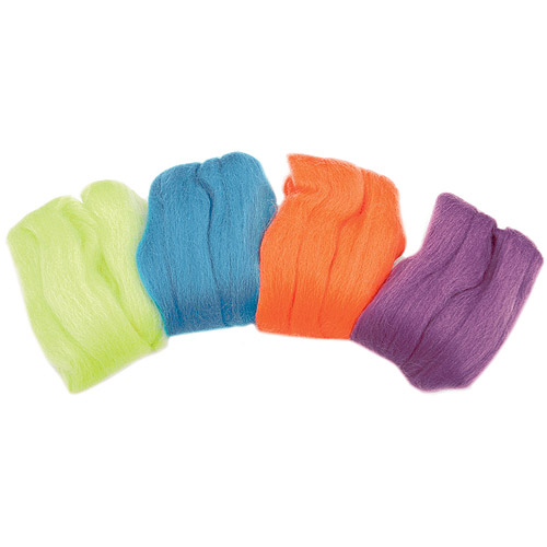 Clover Natural Wool Roving, .7 oz, 4-Pack