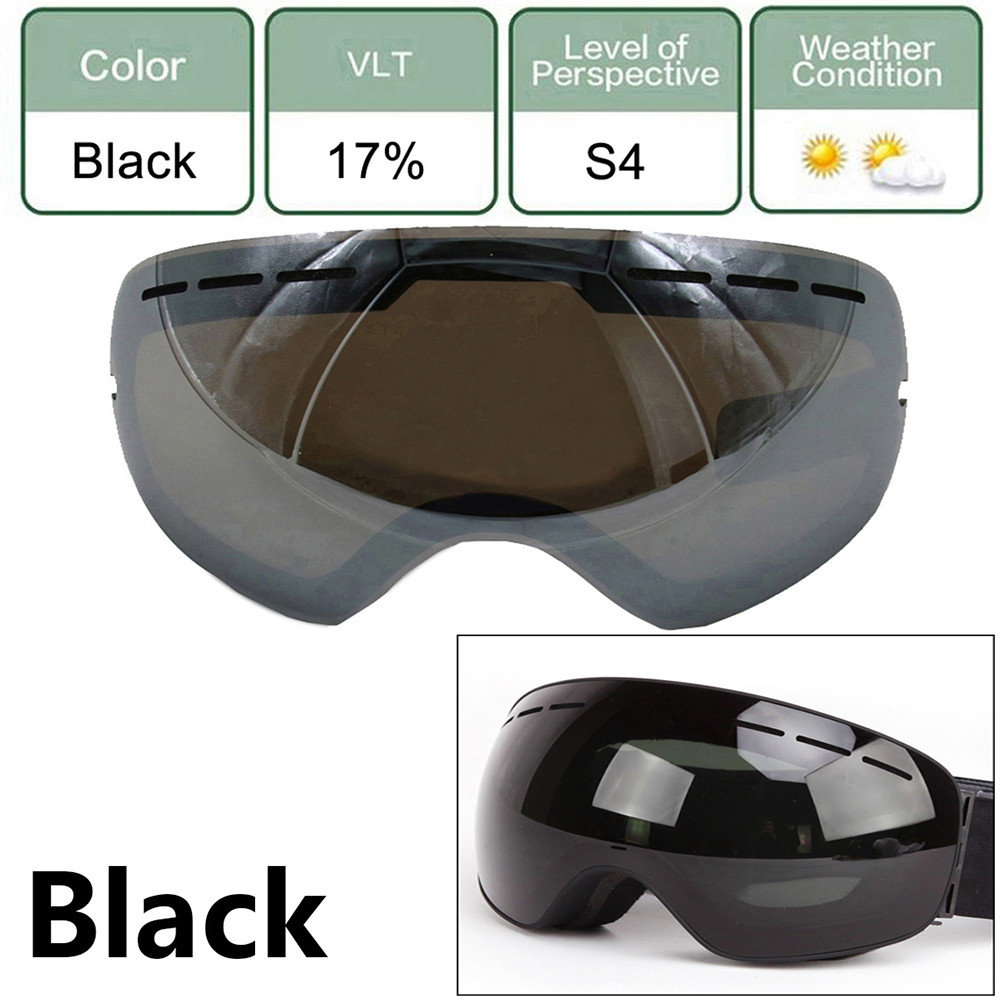 Large Spherical Ski Night Vision Goggles Ski Goggles Lens For Men Women Double Skiing Lens Protection Anti-Fogging by
