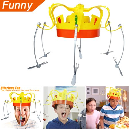 Novel Chow Crown Game Musical Spinning Crown Snacks Food Party Family Game Toy