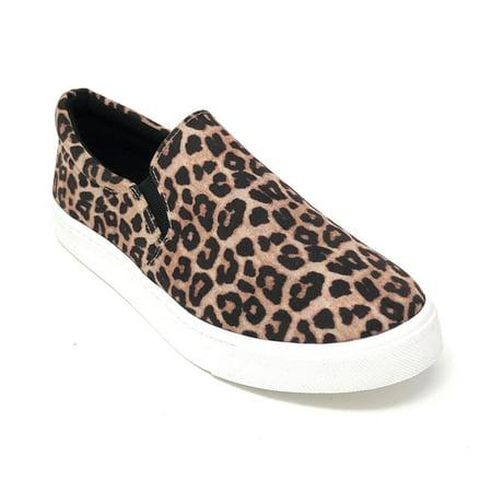 Soda Women's Reign Oatmeal Cheetah Fashion (Cheetah Vans Women)