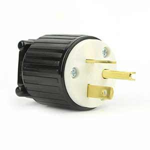 Nema L21 20 (Superior Electric YGA022 Straight Electrical Plug 3 Wire, 20 Amps, 250V, NEMA 6-20P -)