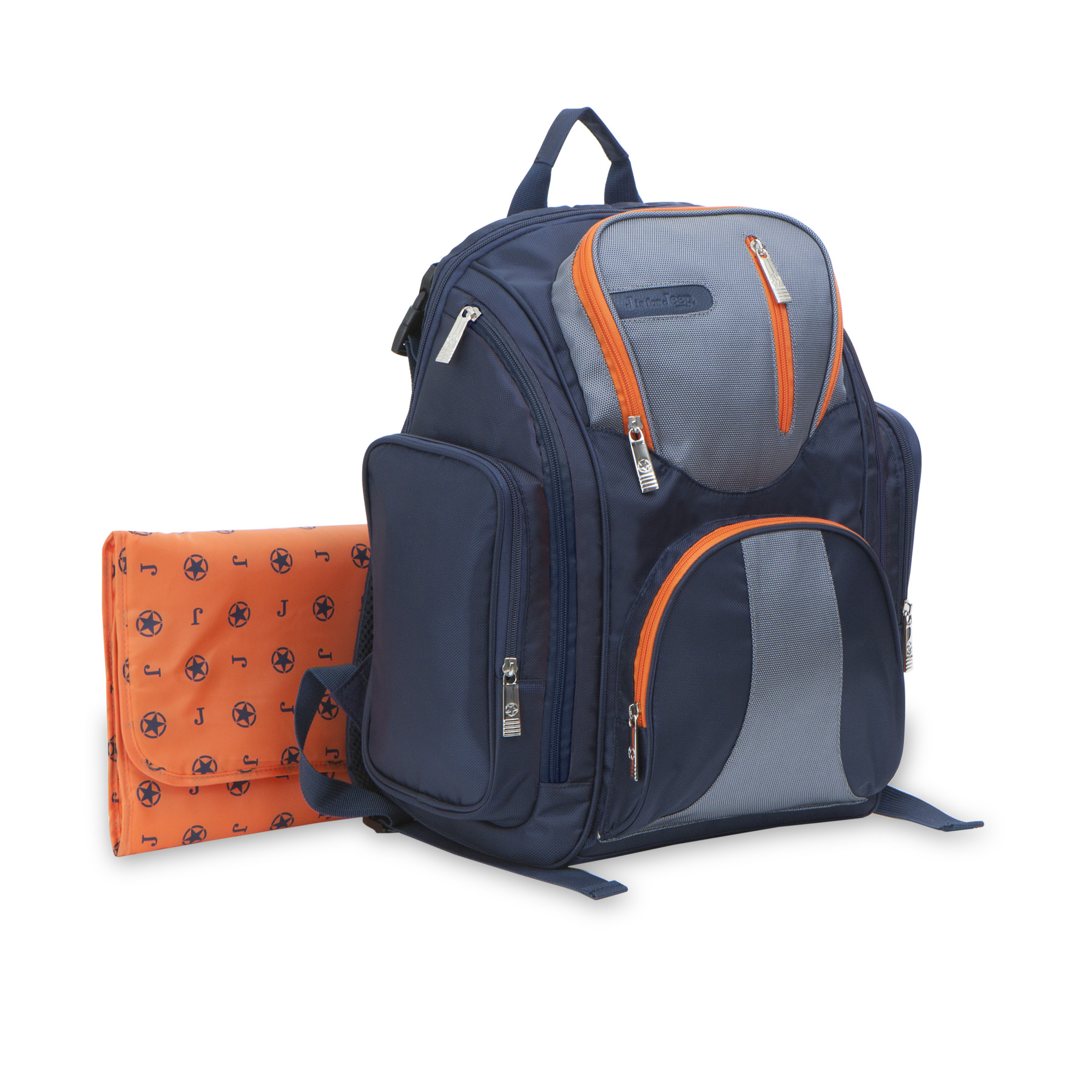 J is for Jeep Perfect Pockets System Backpack Diaper Bag, Blue by J is for Jeep