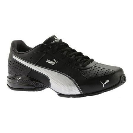 Puma Cell Surin 2 Fm Men  Round Toe Leather Black Sneakers (Puma Shoes Men Futbol)
