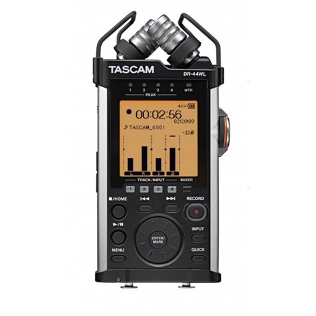 TASCAM DR-44WL Handheld Portable Wi-Fi Linear PCM Audio Recorder w/ 4GB SD Card (Tascam Speaker)
