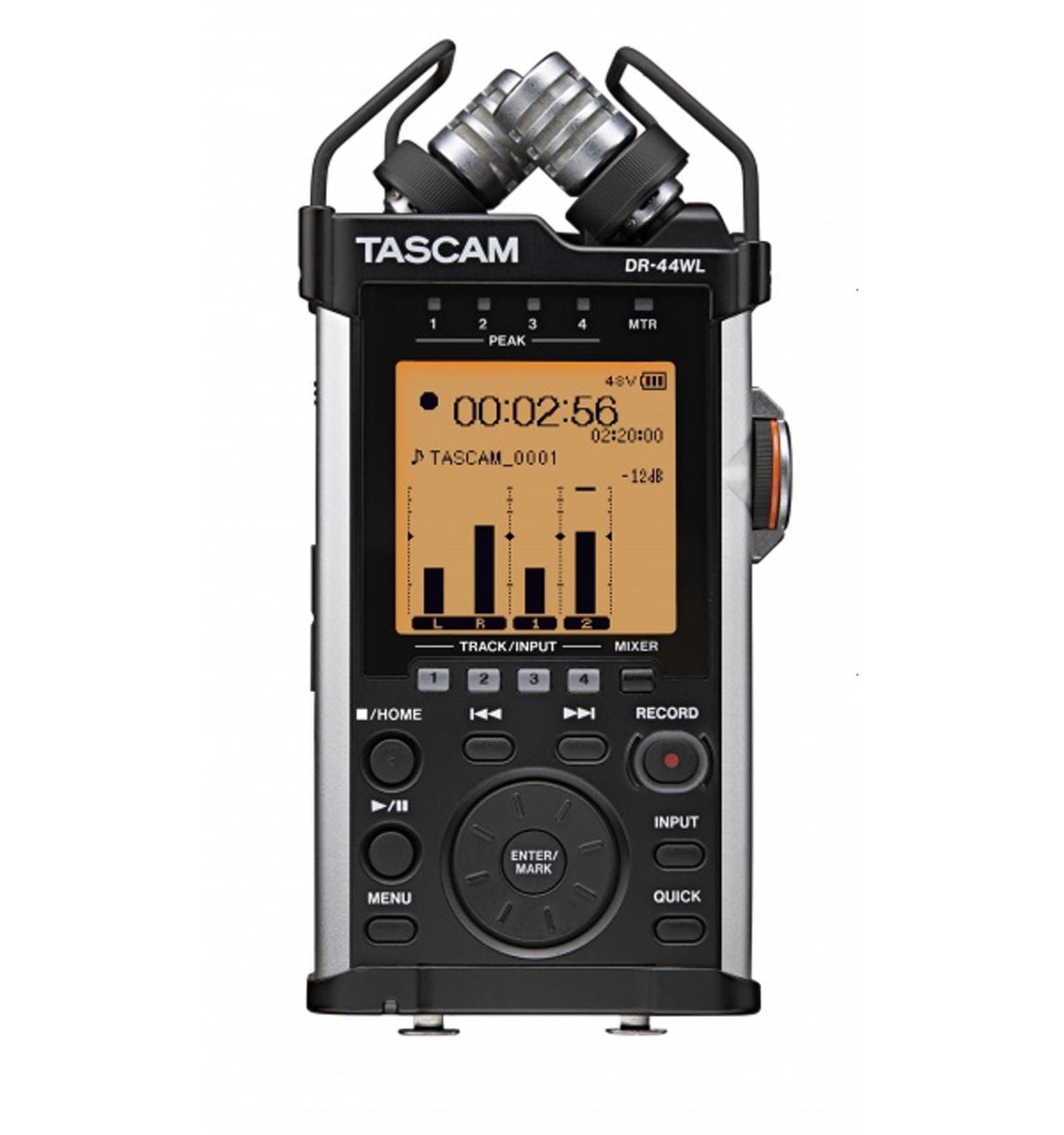 TASCAM DR-44WL Handheld Portable Wi-Fi Linear PCM Audio Recorder w/ 4GB SD Card