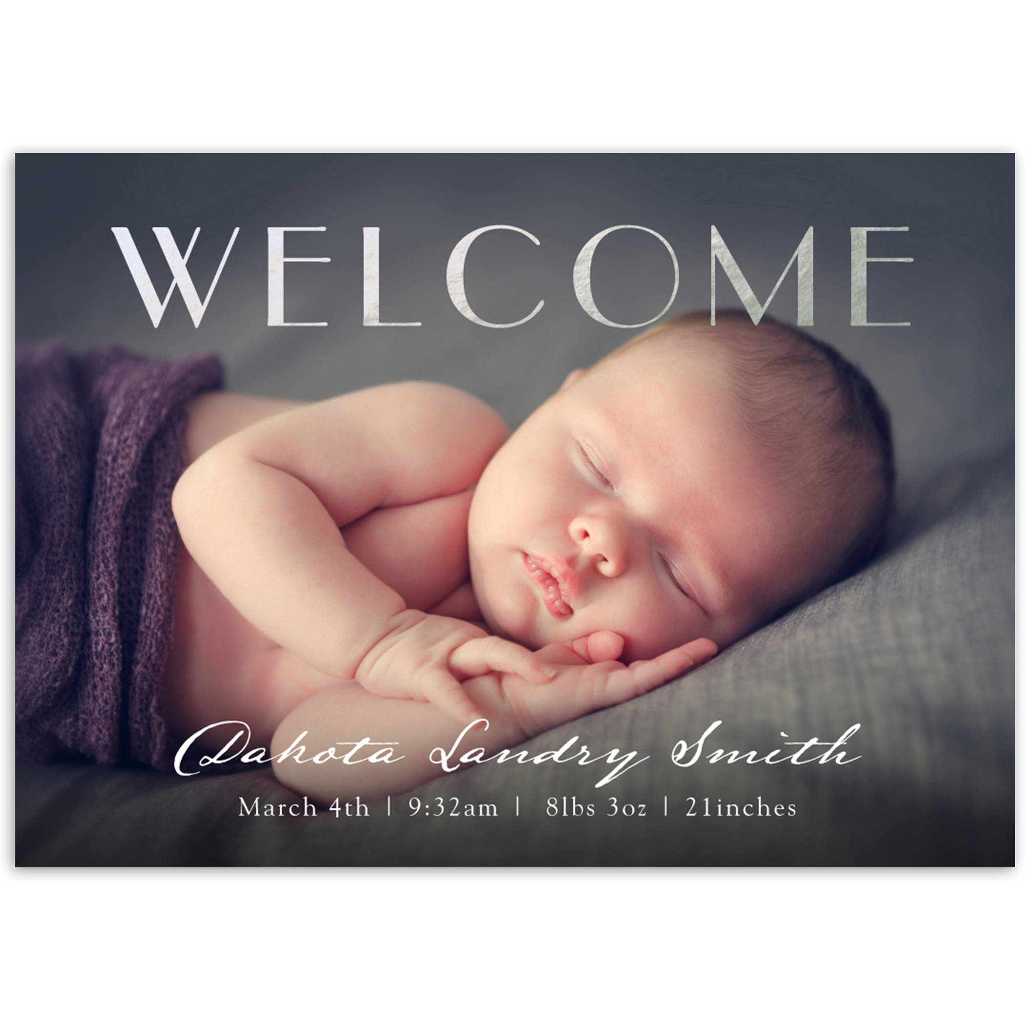Welcome Baby Baby Announcement