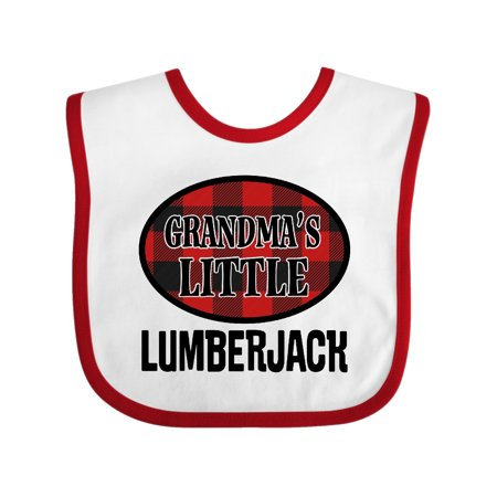 Grandma Little Lumberjack Plaid Baby Bib