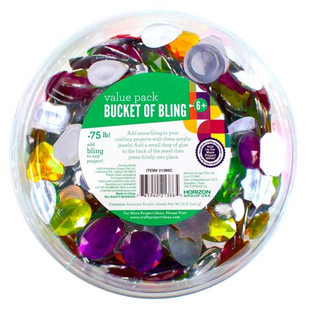Encased Gems - Bucket of Bling Assorted Acrylic Jewels by Horizon Group USA