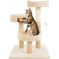 PETMAKER 27.5-in Cat Tree & Condo Scratching Post Tower, Beige