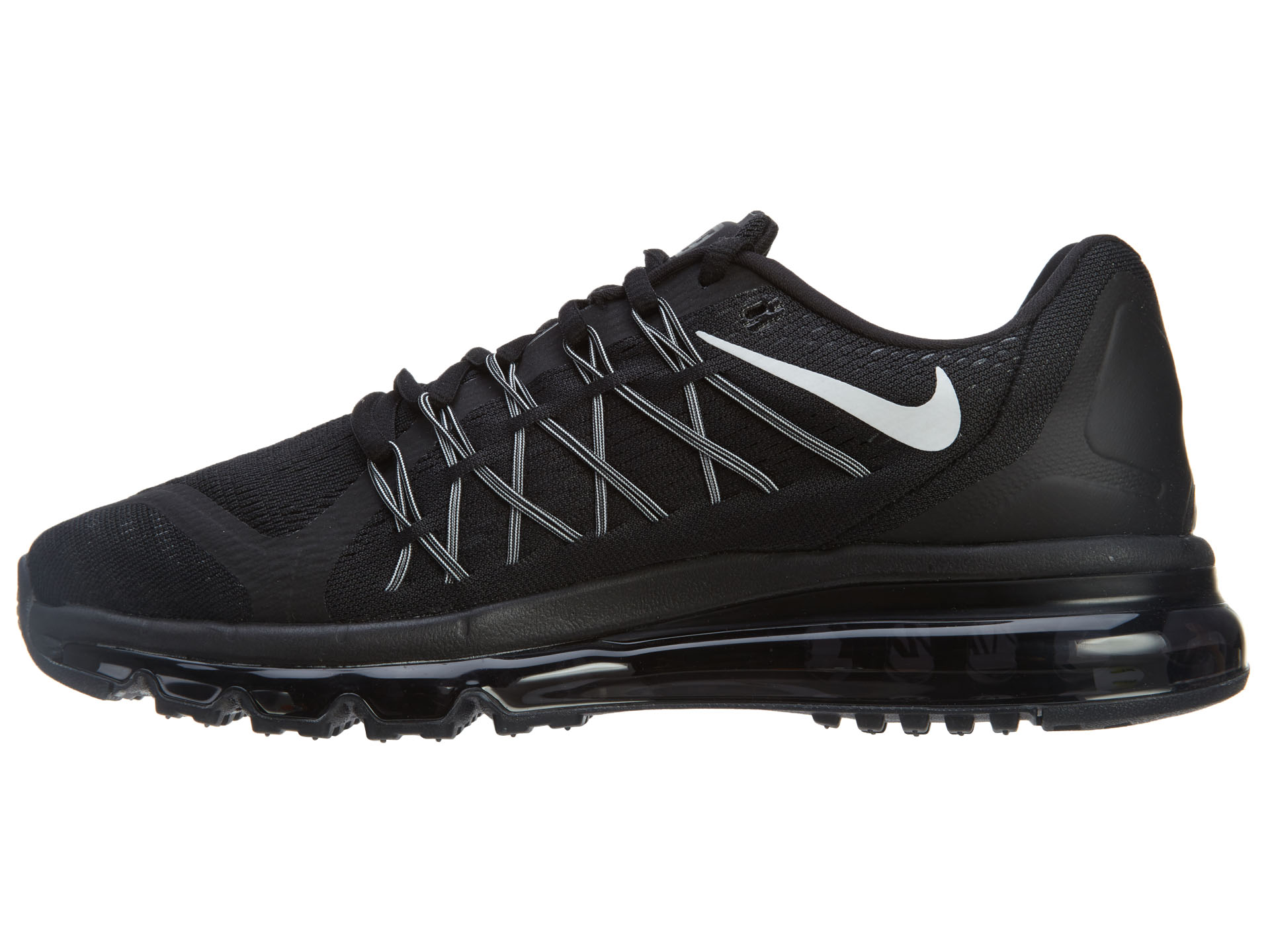 Nike Nike Air Max 2015 Mens Running Shoes BlackWhite