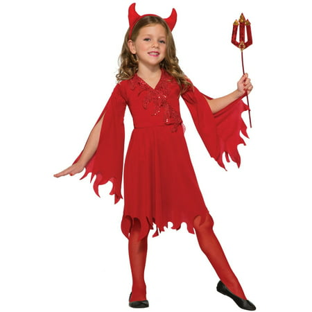 Halloween Child Delightful Devil Costume - Girl Devil Halloween Makeup