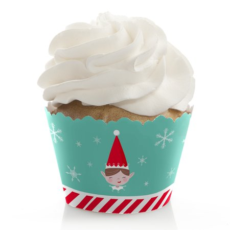 Elf Squad - Kids Elf Christmas and Birthday Party Decorations - Party Cupcake Wrappers - Set of 12 - Elf Birthday