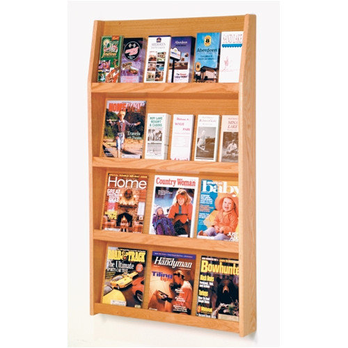 24 Pocket Magazine & Brochure Wall Rack
