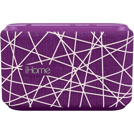 iHome iBT370UW Fabric Splashproof Speaker - Purple