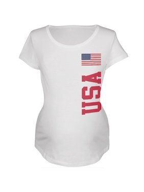 World Cup USA White Womens Soft Maternity T-Shirt - X-Large