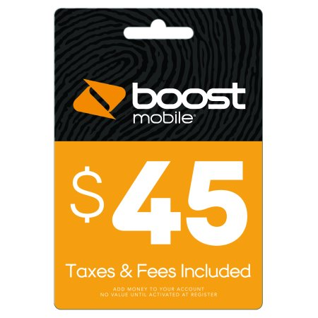 $45 Re-Boost Card (Email Delivery) Boost Mobile Unlimited