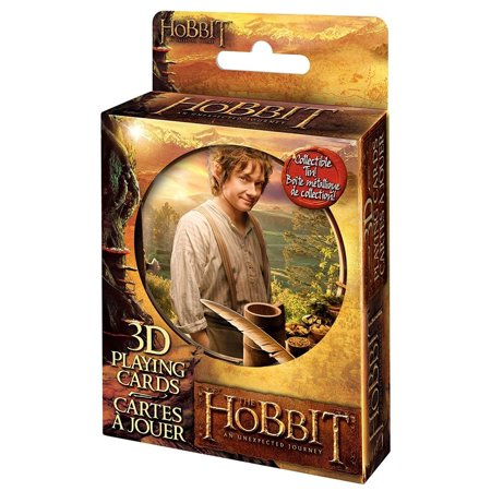 The Hobbit Movie 3D Holographic Plastic Playing Card Deck By Cartamundi Tin Case ()
