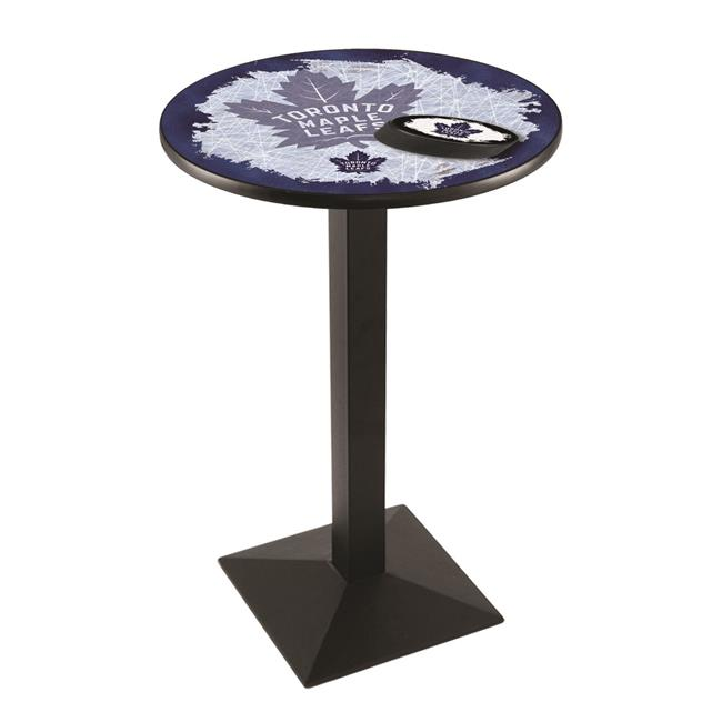 Holland Bar Stool L217B3636TorMpl 36 in. Toronto Maple Leafs Pub Table with 36 in. Top, Black - image 1 de 1