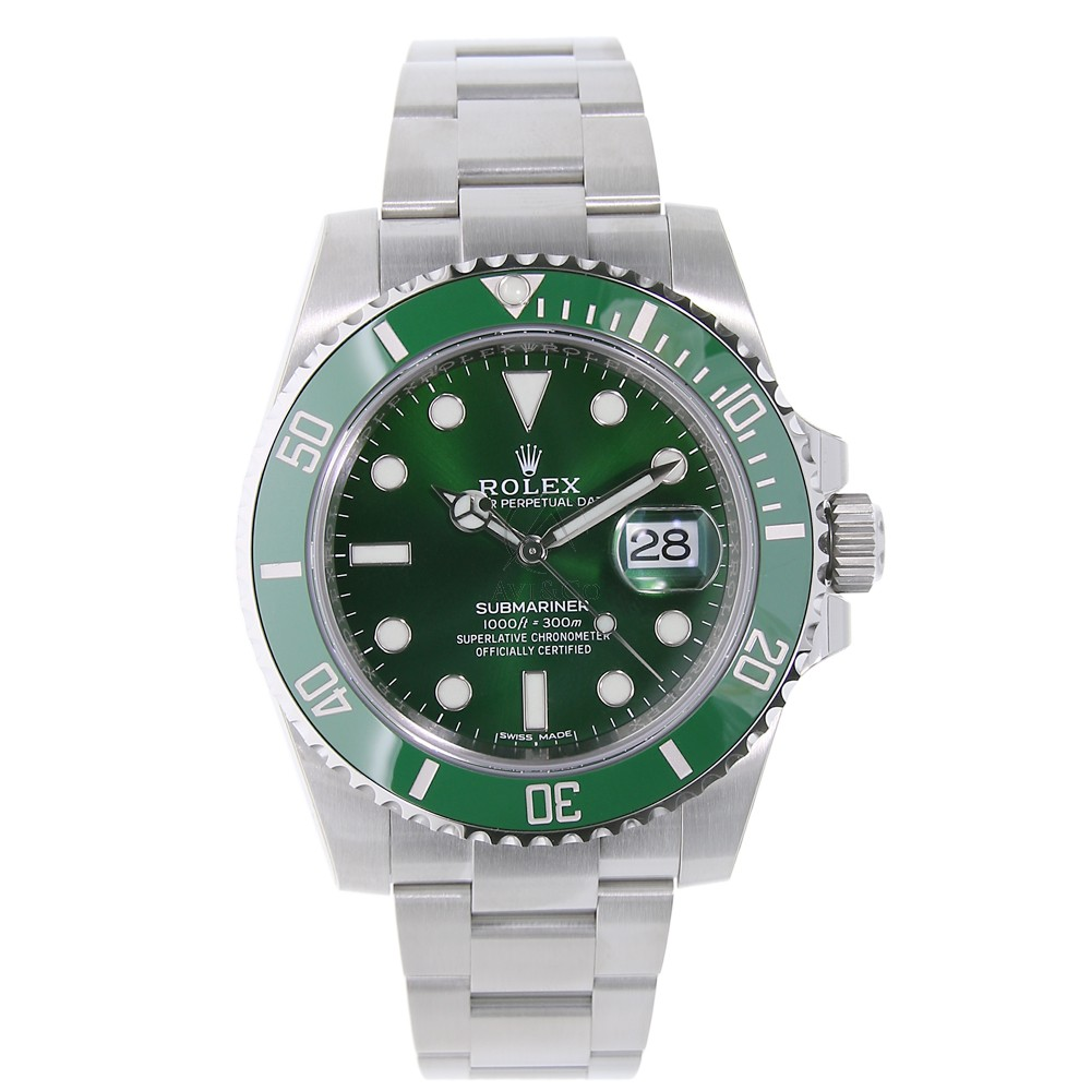 Rolex Submariner Stainless Steel Watch 'The Hulk' Green D...