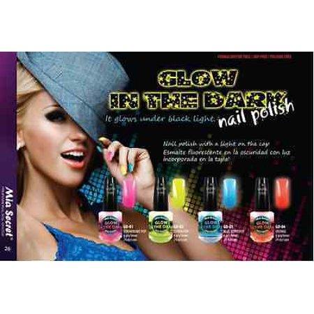 LWS LA Wholesale Store  Mia Secret NEON Glow in the Dark Nail Polish YELLOW