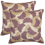 FHT Ginko Plum 17-in Throw Pillows (Set of 2)