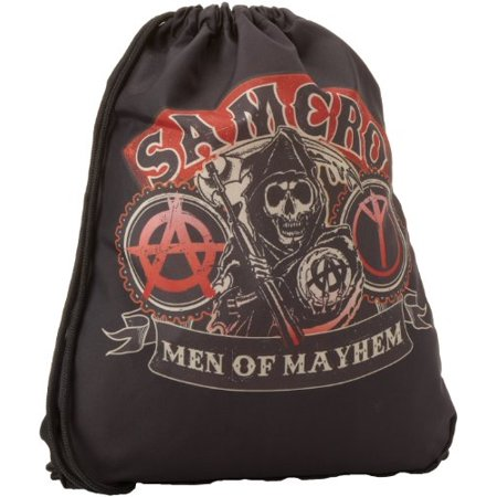 Sons of Anarchy Men's Samcro Backsack, Black, One Size